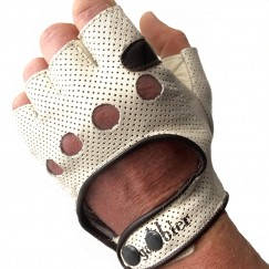 leather cycling glove