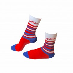 tri colour cycling sock